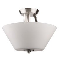 Clayton 3 Light 13 inch Brushed Nickel Flush Mount Ceiling Light
