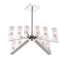 Athena 12 Light 22 inch Chrome Chandelier Ceiling Light