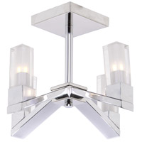 Athena 4 Light 11 inch Chrome Semi Flush Mount Ceiling Light