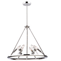 Gravity 6 Light 23 inch Chrome Chandelier Ceiling Light