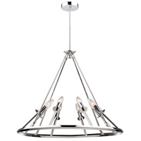 Gravity 8 Light 27 inch Chrome Chandelier Ceiling Light