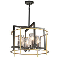 Artcraft AC10946 Riverview 4 Light 20 inch Oil Rubbed Bronze and Satin Brass Chandelier Ceiling Light