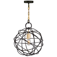 Orbit 1 Light 16 inch Oil Rubbed Bronze Chandelier Ceiling Light