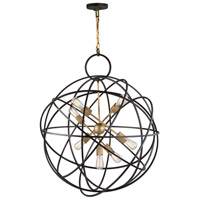 Orbit 7 Light 33 inch Oil Rubbed Bronze Chandelier Ceiling Light