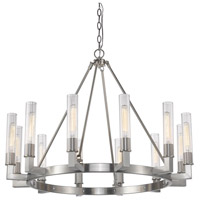 Bentley 12 Light 40 inch Brushed Nickel Chandelier Ceiling Light