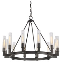 Bentley 12 Light 40 inch Bronze Chandelier Ceiling Light