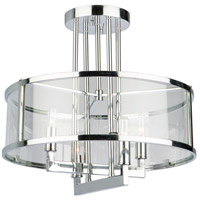 Brinkley 4 Light 17 inch Chrome Semi Flush Mount Ceiling Light