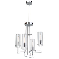 Artcraft Chrome Glass Chandeliers