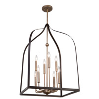 Worthington 8 Light 20 inch Oil Rubbed Bronze and Antique Gold Chandelier Ceiling Light