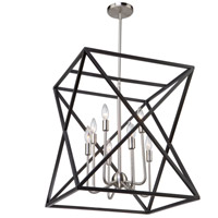 Artcraft AC11042 Elements 8 Light 20 inch Black and Polished Nickel Chandelier Ceiling Light