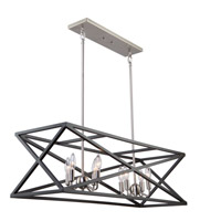 Elements 8 Light 38 inch Black and Polished Nickel Island Light Ceiling Light