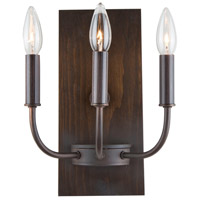 Aberdeen 3 Light 9 inch Brunito Bronze and Light Wood Wall Sconce Wall Light