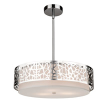 Artcraft AC11062CH Bayview 3 Light 16 inch Chrome and White Pendant Ceiling Light