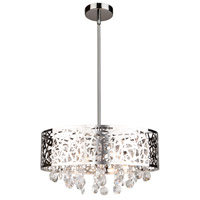 Celestial 4 Light 16 inch Chrome Chandelier Ceiling Light