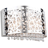Celestial 2 Light 12 inch Chrome Wall Sconce Wall Light