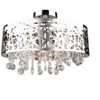 Celestial 4 Light 16 inch Chrome Flush Mount Ceiling Light