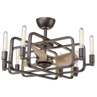 Artcraft AC11080 Marlborough 8 Light 32 inch Oil Rubbed Bronze and Gold Leaf Chandelier Ceiling Light