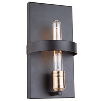 Willow 1 Light 4 inch Dark Bronze and Vintage Brass Wall Sconce Wall Light