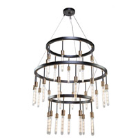 Willow 33 Light 37 inch Dark Bronze and Vintage Brass Chandelier Ceiling Light
