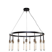 Willow 15 Light 37 inch Dark Bronze and Vintage Brass Chandelier Ceiling Light