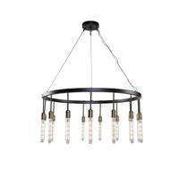 Artcraft AC11095 Willow 15 Light 37 inch Dark Bronze and Vintage Brass Chandelier Ceiling Light