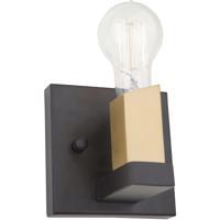 Artcraft AC11101 Skyline 1 Light 5 inch Dark Bronze and Satin Brass Wall Sconce Wall Light