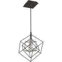 Artcraft AC11117PN Artistry 1 Light 10 inch Matte Black and Polished Nickel Pendant Ceiling Light