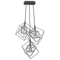 Artcraft AC11118PN Artistry 3 Light 28 inch Matte Black and Polished Nickel Chandelier Ceiling Light
