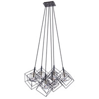 Artcraft AC11119PN Artistry 6 Light 28 inch Matte Black and Polished Nickel Chandelier Ceiling Light