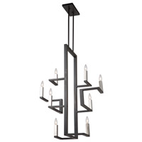 Artcraft AC11138 Urban Chic 8 Light 14 inch Matte Black and Satin Nickel Chandelier Ceiling Light