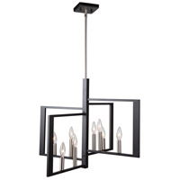 Artcraft AC11178NB Sutherland 8 Light 28 inch Black and Brushed Nickel Pendant Ceiling Light