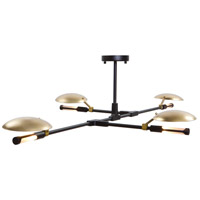 Aventura LED 32 inch Matt Black Chandelier Ceiling Light