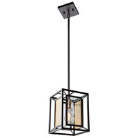 Artcraft AC11191 Chadwick 1 Light 8 inch Dark Bronze and Satin Brass Pendant Ceiling Light