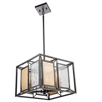 Artcraft AC11194 Chadwick 4 Light 14 inch Dark Bronze and Satin Brass Chandelier Ceiling Light