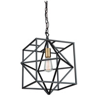 Artcraft AC11201 Roxton 1 Light 15 inch Matte Black and Harvest Brass Pendant Ceiling Light
