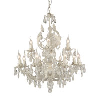 Artcraft Lighting Paris 12 Light Chandelier in Antique White AC1122