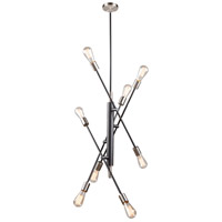 Artcraft AC11253NB Truro 8 Light 26 inch Black and Brushed Nickel Pendant Ceiling Light