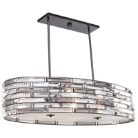Artcraft AC11266 Vero 6 Light 36 inch Black Island Light Ceiling Light