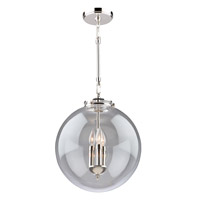Artcraft AC11286PN Alexandria 3 Light 14 inch Polished Nickel Pendant Ceiling Light