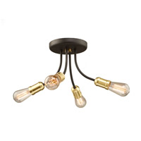 Artcraft AC11294SB Barclay Street 4 Light 16 inch Satin Brass Flush Mount Ceiling Light