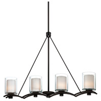 Artcraft Lighting Andover 4 Light Island Light in Oil Rubbed Bronze AC1134OB