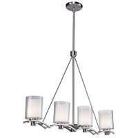Andover 4 Light 31 inch Polished Nickel Island Light Ceiling Light