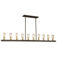 Satin Brass Wood Island Lights