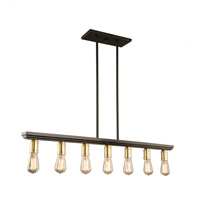 Artcraft AC11358SB Sandalwood 7 Light 40 inch Satin Brass Island Pendant Ceiling Light