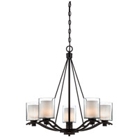 ARTCRAFT Andover 5 Light Chandelier in Oil Rubbed Bronze AC1135OB