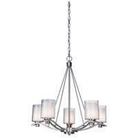 ARTCRAFT Andover 5 Light Chandelier in Polished Nickel AC1135PN