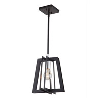 Artcraft AC11370 Carlton 1 Light 10 inch Matte Black and Polished Nickel Pendant Ceiling Light