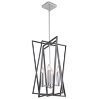 Artcraft AC11384 Middleton 4 Light 16 inch Matte Black and Polished Chrome Chandelier Ceiling Light