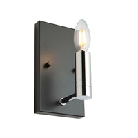 Matte Black/Polished Nickel Wall Sconces
