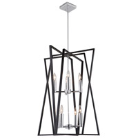Artcraft AC11388 Middleton 8 Light 23 inch Matte Black and Polished Chrome Chandelier Ceiling Light